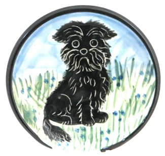 Affenpinscher Black -Deluxe Spoon Rest