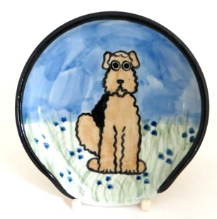 Airedale Terrier -Deluxe Spoon Rest