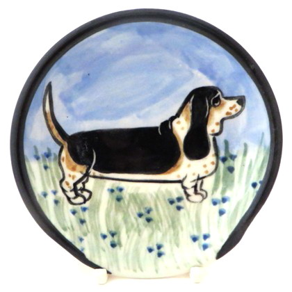 Bassett Hound Tri color -Deluxe Spoon rest