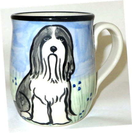 Bearded Collie Gray & White -Deluxe Mug