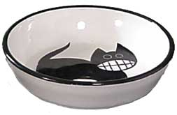 "Cat Feeder Bowl - 5 3/4"" wide"