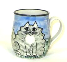 Cat Fat Grey Tabby -Deluxe Mug