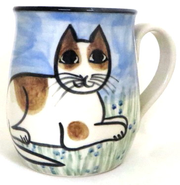 Cat Lying Orange & White -Deluxe Mug
