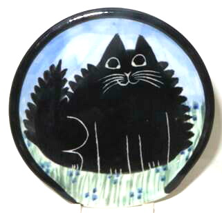 Cat Fat Black -Deluxe Spoon Rest