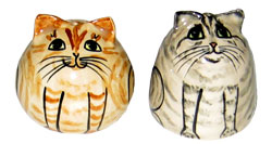 Cats - Ginger and Tabby - Salt and Pepper Shaker