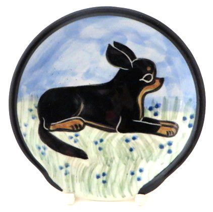 Chihuahua Black and Tan -Deluxe Spoon Rest