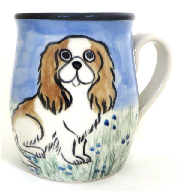 Japanese Chin Brown and White - Deluxe Mug