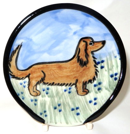 Dachshund Long Hair Red -Deluxe Spoon Rest