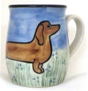 Dachsund Red -Deluxe Mug