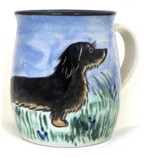 Dachsund Wire Haired Black & Tan -Deluxe Mug