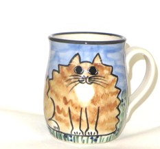 Cat Fat Orange Tabby -Deluxe Mug