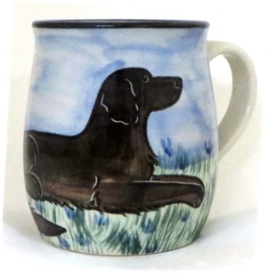 Flat Coated Retriever Chocolate -Deluxe Mug