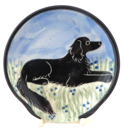 Flat Coated retriever Black -Deluxe Spoon Rest