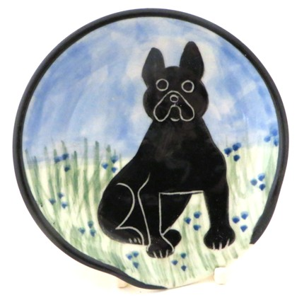 French Bulldog Black -Deluxe Spoon Rest