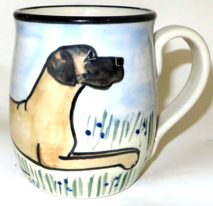 Great Dane Uncropped - Deluxe Mug
