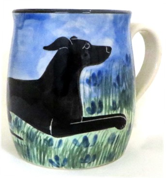 GreyHound Black -Deluxe mug