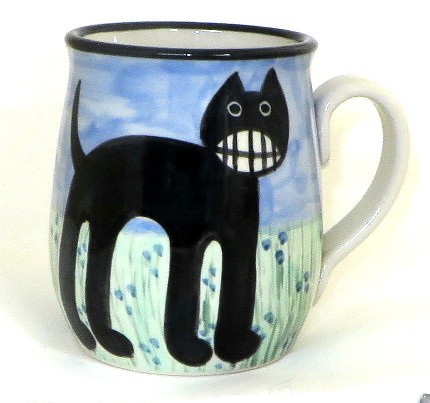 Cat Grinning -Deluxe Mug
