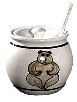 "3 1/2"" Honey Pot with Dipper"