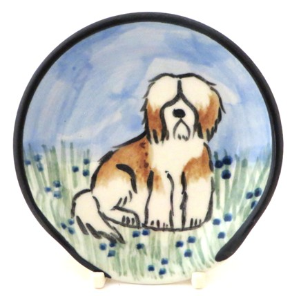 Havanese Brown and White -Deluxe Spoon rest