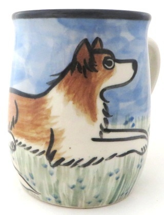 Border Collie Red and White -Deluxe Mug