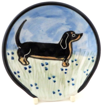 Dachshund Black and Tan -Deluxe Spoon Rest