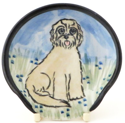 Labradoodle Blond -Deluxe Spoon Rest