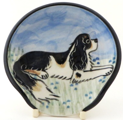 King Charles Spaniel Tri Color -Deluxe Spoon Rest