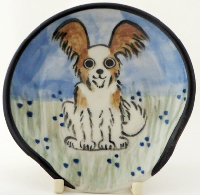 Papillon Brown and White -Deluxe Spoon Rest