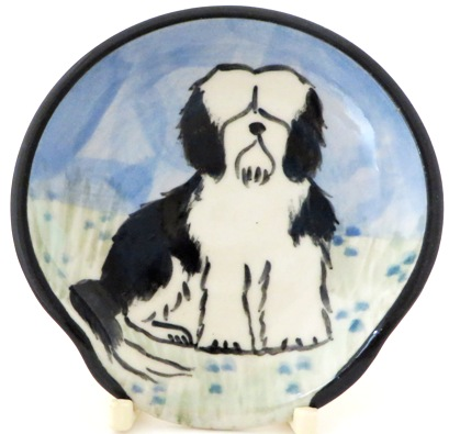 Havanese Black and White -Deluxe Spoon Rest