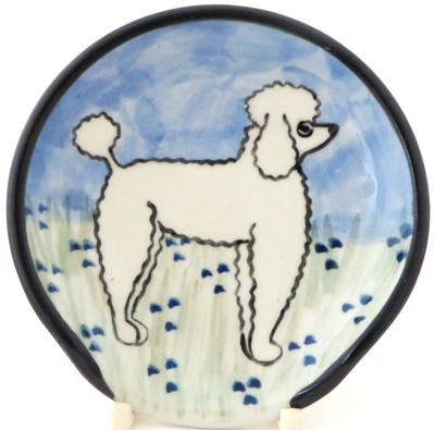 Poodle White -Deluxe Spoon rest