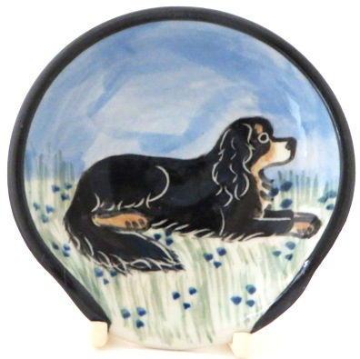 King Charles Spaniel Black and Tan -Deluxe Spoon Rest