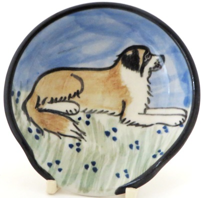 Saint Bernard -Deluxe Spoon Rest