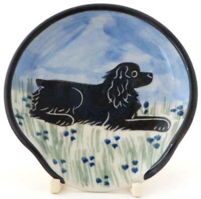 Cocker Spaniel Black -Deluxe Spoon Rest