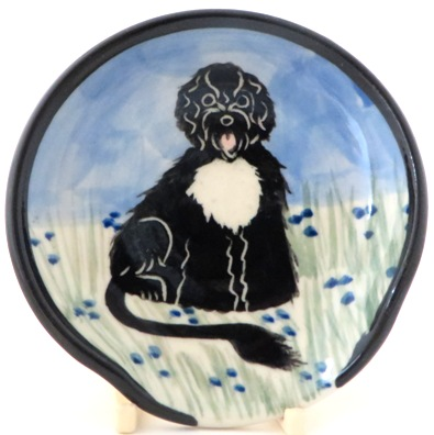 Portugese Water Dog -Deluxe Spoon Rest