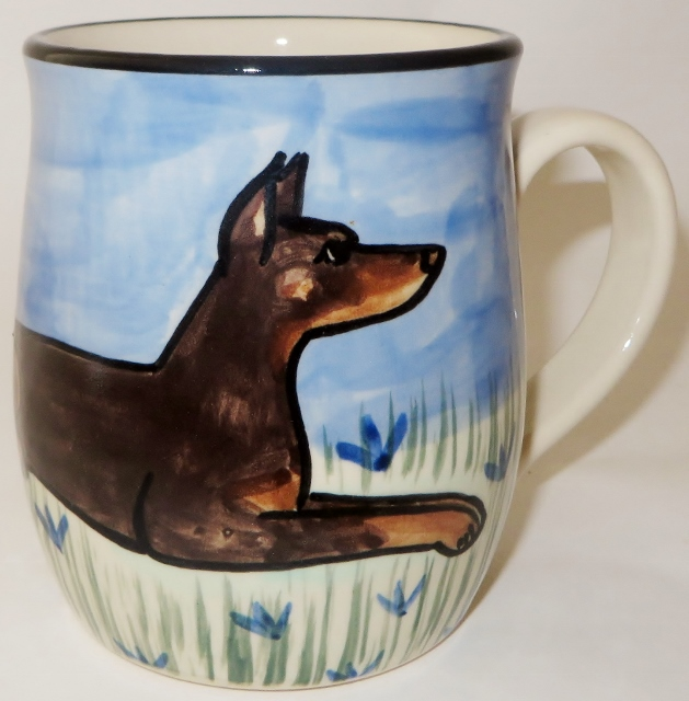 Doberman Cropped Red - Deluxe Mug