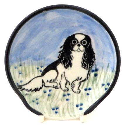 Japanese Chin Black and White -Deluxe Spoon Rest
