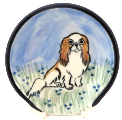 Japanese Chin Brown and White -Deluxe Spoon Rest