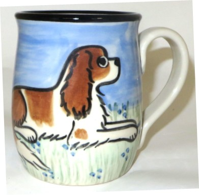 King Charles Spaniel Red & White -Deluxe Mug