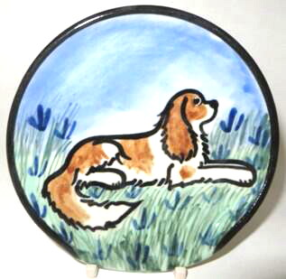 King Charles Spaniel Red & White -Deluxe Spoon Rest