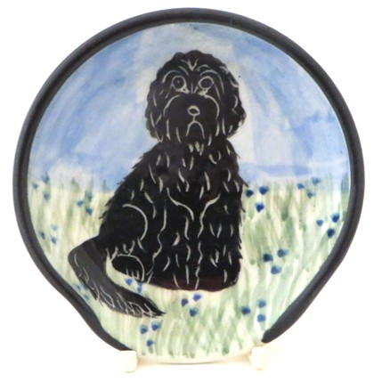 Labradoodle Black -Deluxe Spoon Rest