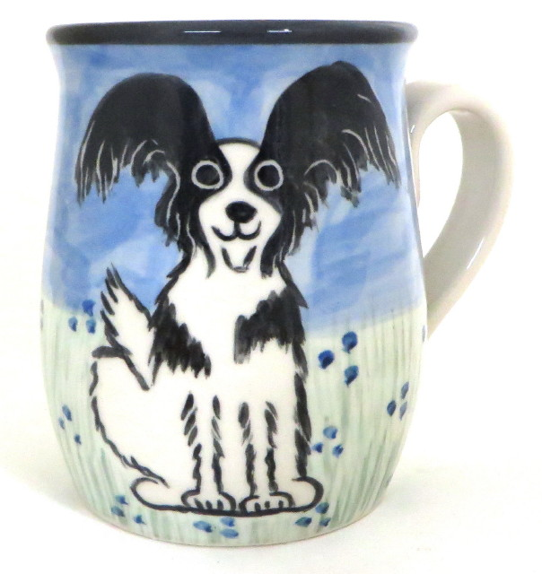 Papillon Black and White -Deluxe Mug