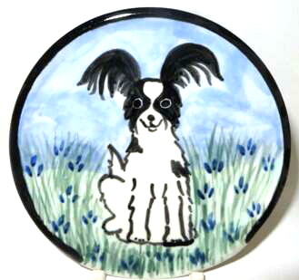 Papillon Black and White -Deluxe Spoon Rest