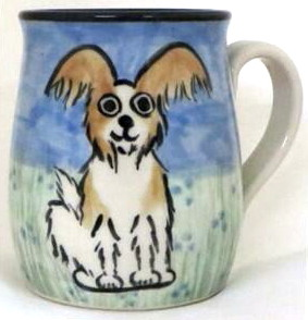 Papillon Brown and White -Deluxe Mug