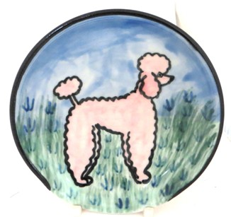 Poodle Pink -Deluxe Spoon Rest