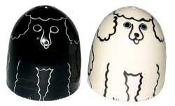 Poodle - Black and White - Salt and Pepper Shaker