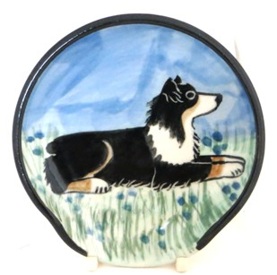Sheltie Tri Color -Deluxe Spoon Rest