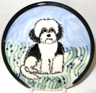 Shih Tzu Black and White Puppy Cut -Deluxe Spoon Rest