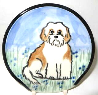 Shih Tzu Brown and White Puppy Cut -Deluxe Spoon Rest