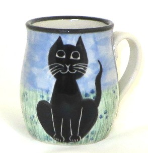Cat Sitting Black -Deluxe Mug