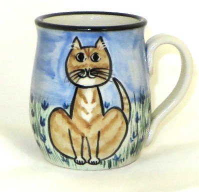Cat Sitting Orange Tabby -Deluxe Mug